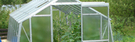 Galvanized steel garden greenhouses